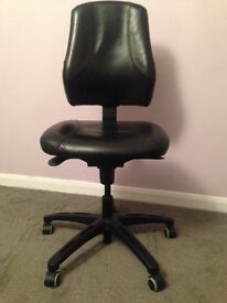 Vintage Leather Office Swivel Chair