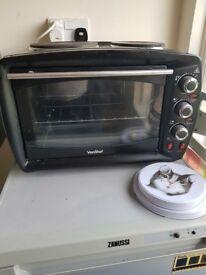 Von Shef Mini Oven and 2 Hobs. 26 Litre Capacity