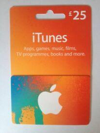 iTunes Gift Vouchers worth £105