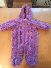 F&F baby fur snowsuit