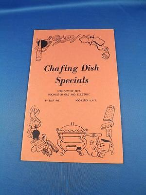 CHAFING DISH SPECIALS RECIPE BOOKLET ROCHESTER GAS AND ELECTRIC ADVERTISING