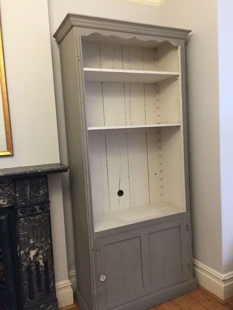 A pair of matching French bookshelves