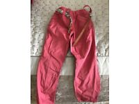 Next pink trousers with belt 5 years.