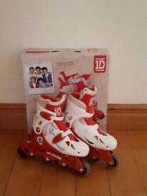 One Direction Girl's Adjustable Inline Skates Size 13-3