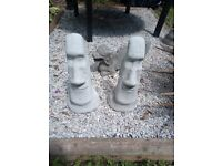Large Easter Island Heads Handmade Concrete Garden Statue
