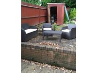 Garden/conservatory sofa and chairs set.