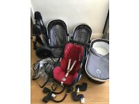 Icandy peach single/double/twin stroller pram set worth £1460! 3 way pushchair