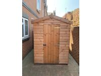 6X5 Timber Garden Shed with 4 Wheel Locking Bolt