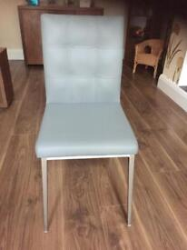 Designer Leather Dining Chairs x4