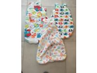 3x baby sleeping bags 0-6 months