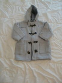 BLUE DUFFLE COAT, 5 - 6 years old