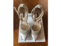 Silver shoes - perfect for a wedding - size 6