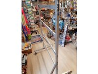 Large metal stand - stand ideal for displaying all types of shoes, beach, flipflops & other items