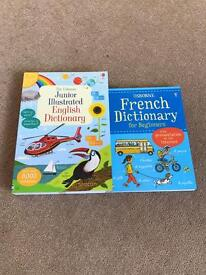 Brand New English and French Children's Dictionary's - New