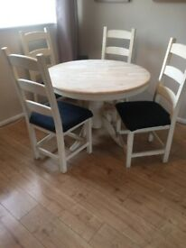 Shabby style dining table set