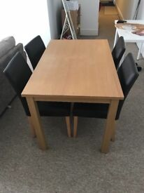 Dining Table and Four Chairs - £30 Collection only