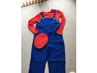 Men's Mario Fancy Dress Costume - One Standard Size