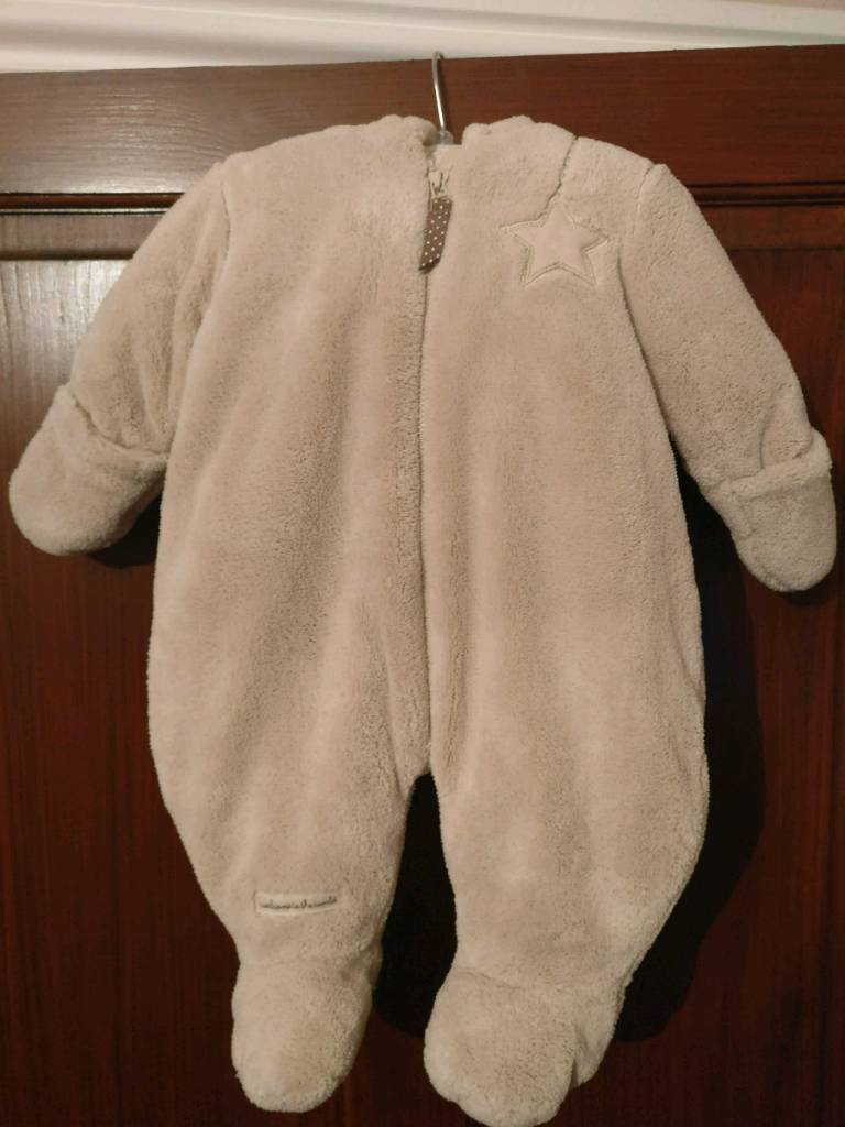 Mamas and Papas welcome to the world snowsuit (0-3months)