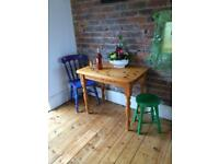 Small solid pine kitchen table