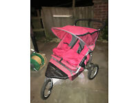 OUT N ABOUT NIPPER 360 DOUBLE STROLLER-BARGAIN JUST £55