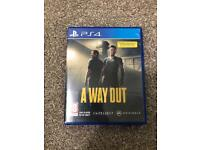 A Way Out PS4 Excellent Condition
