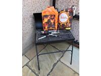 Oil Drum BBQ With Cover - Charcoal