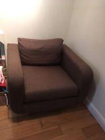 M&S armchair brown - bargain