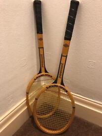 Vintage retro tennis raquets