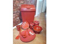 Red Kitchen Set Accessories