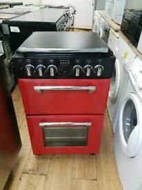 STOVES DUAL FUEL GAS COOKER 55CM WIDTH FAN ASSISTED OVEN