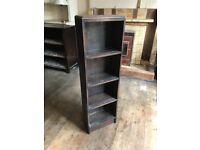 Herbert E. Gibbs Mid-Century Vintage Dark Oak Bookcase for Paperbacks