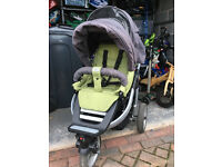Teutonia Spirit S 3 - 3 wheeler all terrain buggy with carrycot