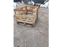 Wooden transport crates planters??