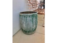 Vintage galvanised dolly planter