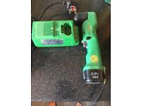 Hitachi right angled 9.6v drill with battery and charger