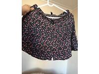 H&M floral skirt size EU 36