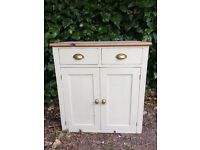 Freestanding Pine Kitchen Unit with Inset Enamel Top