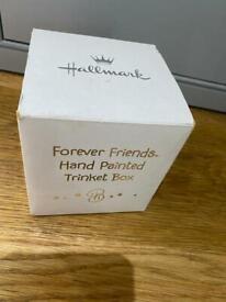 Brand new Hallmark Forever Friends baby trinket box lost in blue - baby boy gift