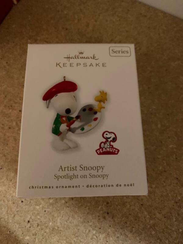 Hallmark Keepsake Ornament 2010 Artist Snoopy Spotlight on 13th #13 Series