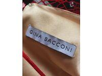 GIna Bacconi beautiful red/burnt orange lace dress