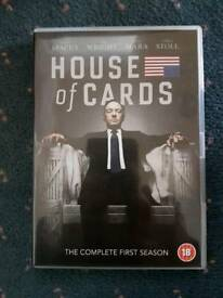 House of cards season 1 dvd boxed set