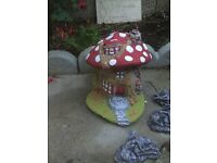 Lovely large stone fairy house garden ornament