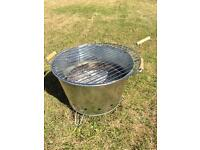 Portable charcoal bucket BBQ