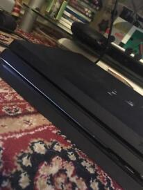 PS4 pro with red controller , fifa17 , advance warfare , and the crew