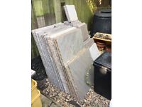 Indian Sandstone Paving Slabs - 5 size project pack 12m - brown