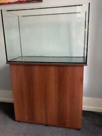 140L aquarium fish tank with cabinet