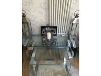 Chrome and Glass Large entertainment centre for line use / tv stand / coffee table etc.