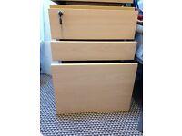3 Drawer Under Desk Office Pedestal