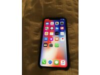 iPhone X 64gb white/silver unlocked