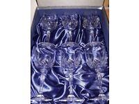 6 x RCR rock crystal wine glasses